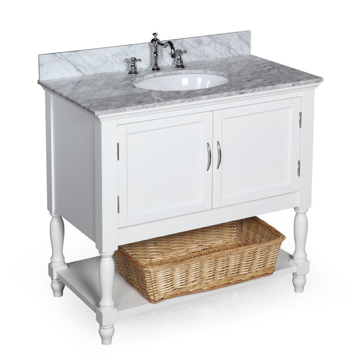 The Beverly 36-inch Bathroom Vanity is a perfect fit for a small bathroom and a tight budget.