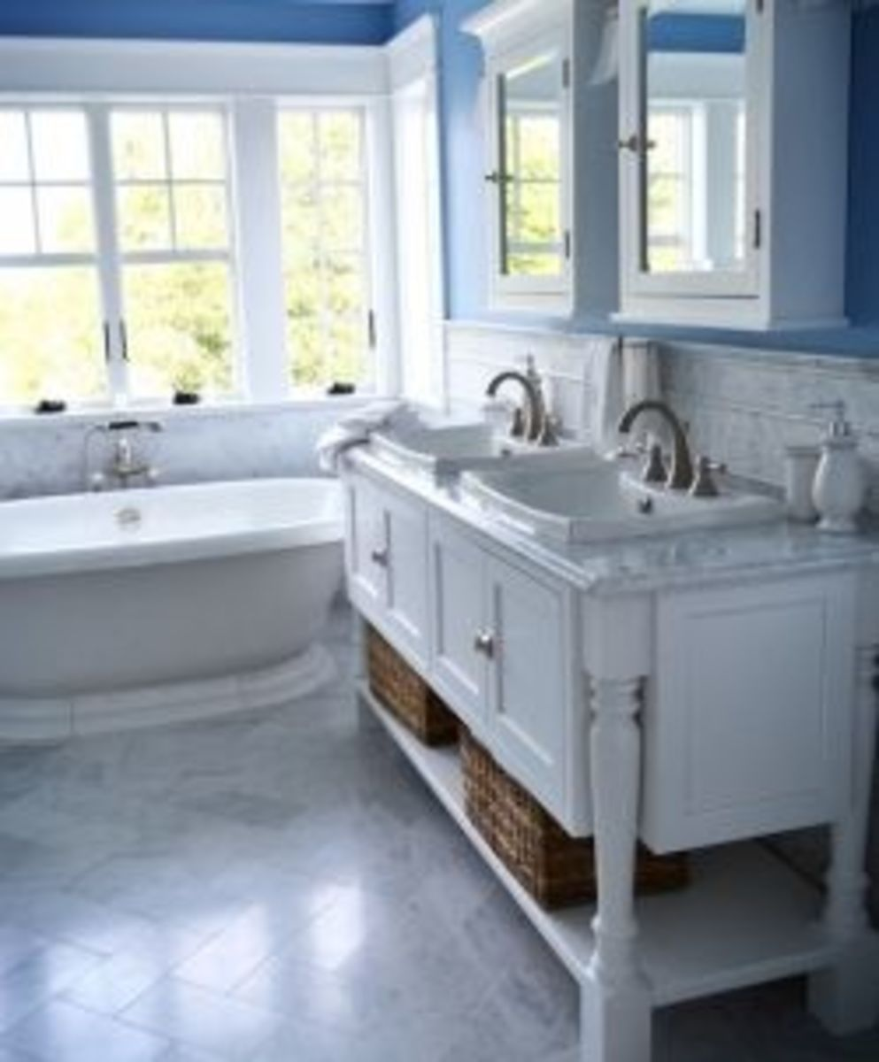 console style cottage bathroom vanity