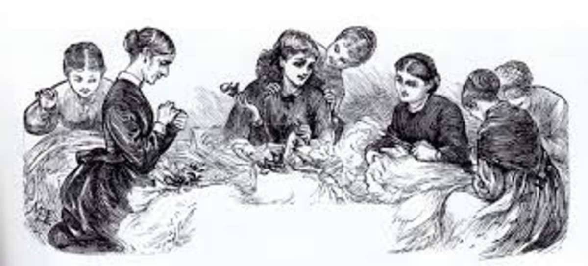 A gathering of women.