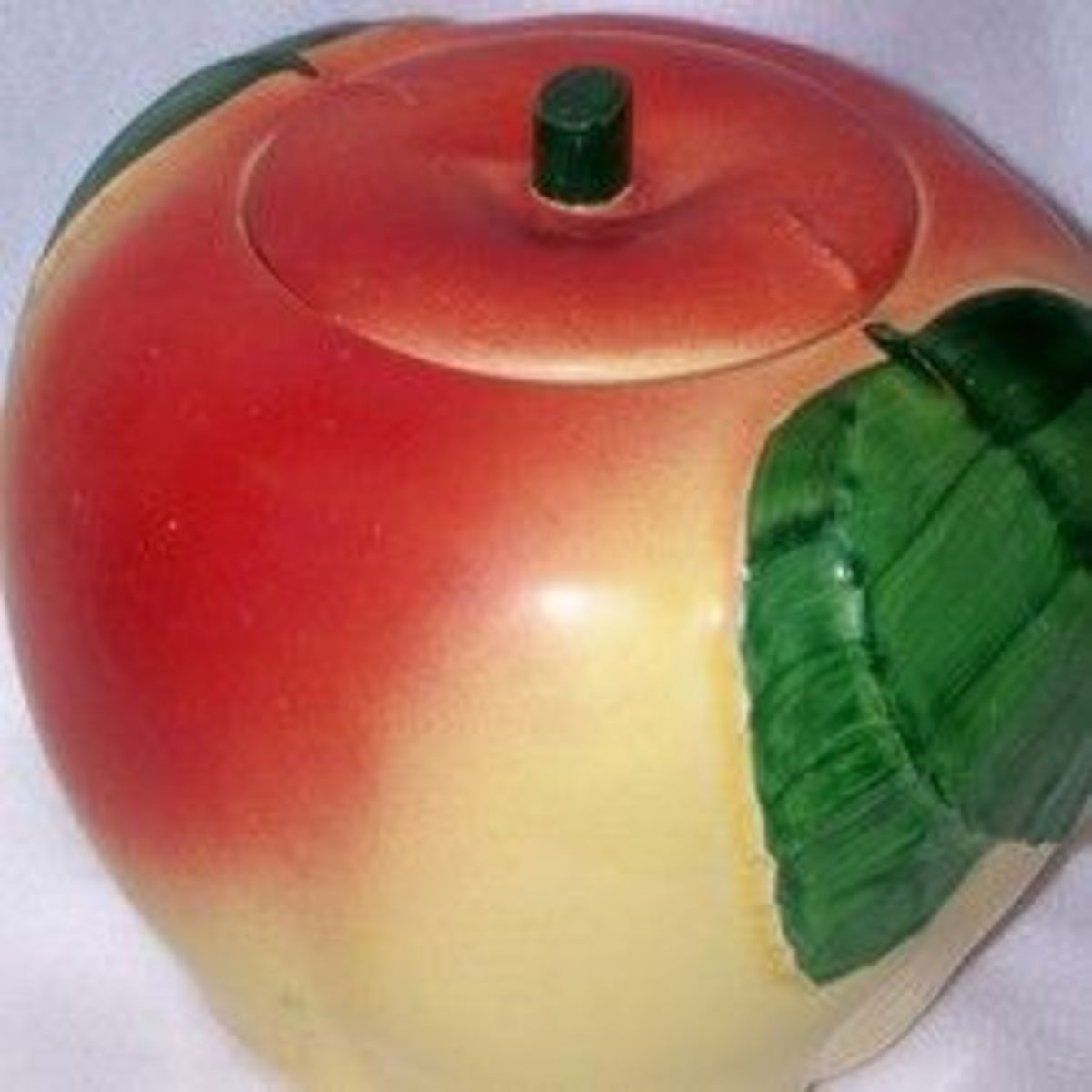 Vintage Red Apple Cookie Jars