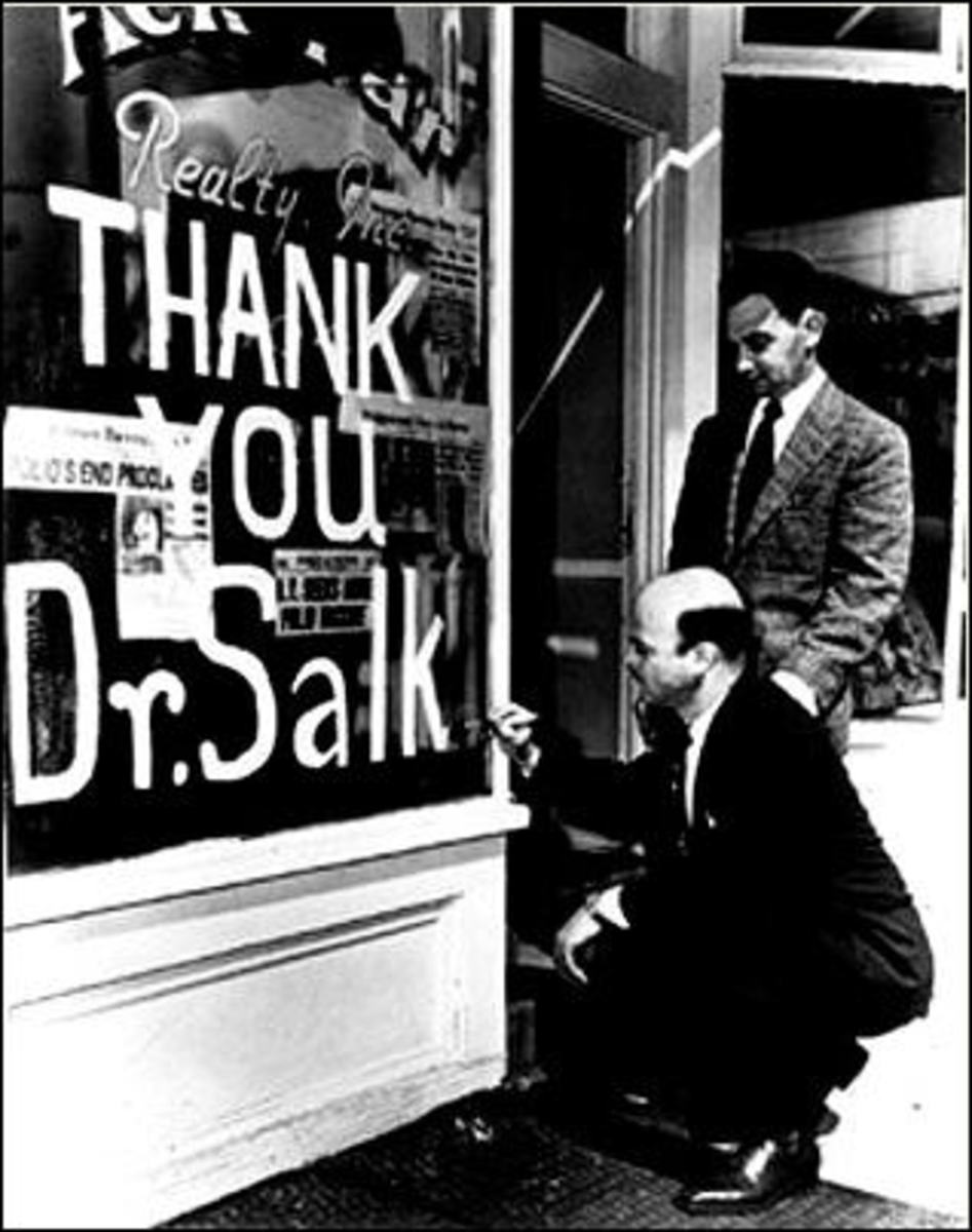 People were very grateful to Dr. Salk
