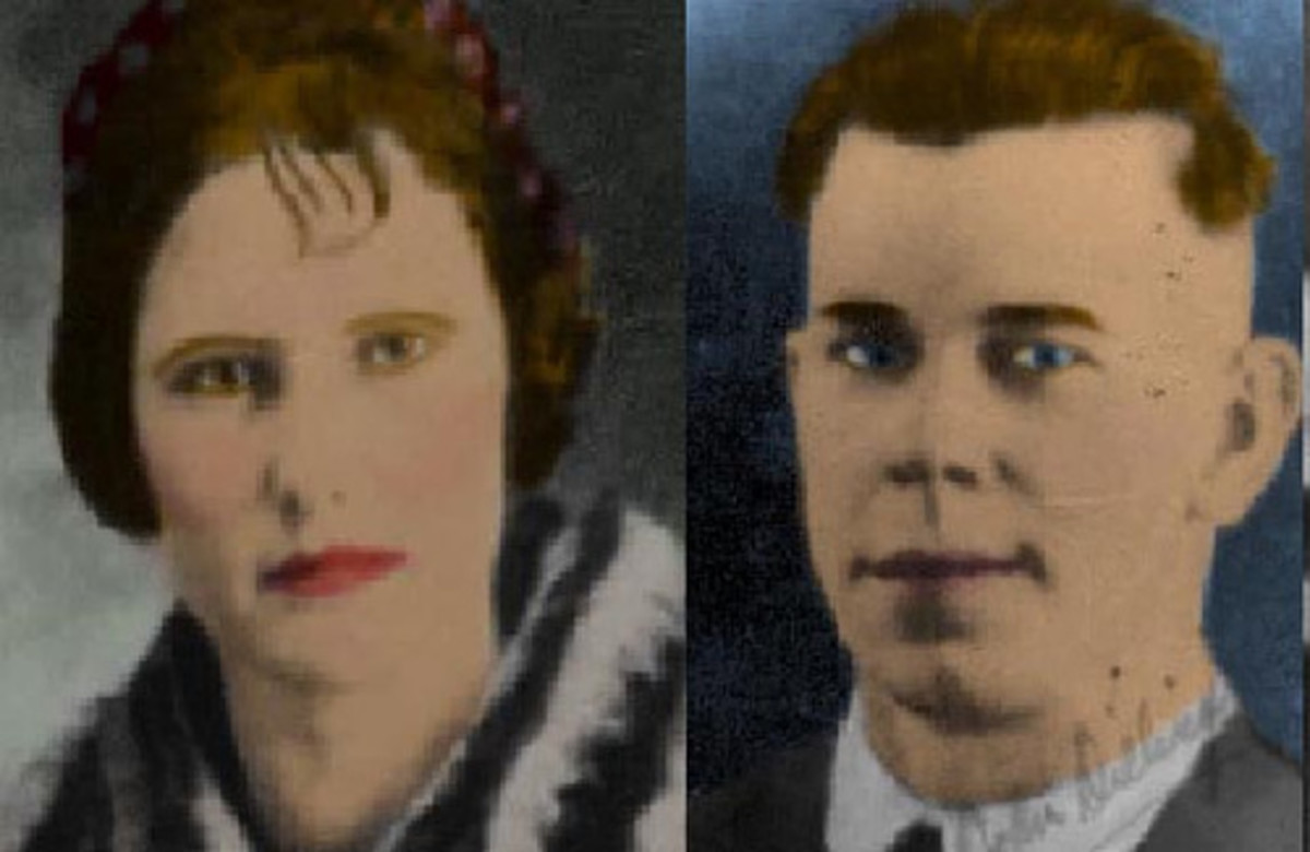 Beryl and John Dillinger at 17