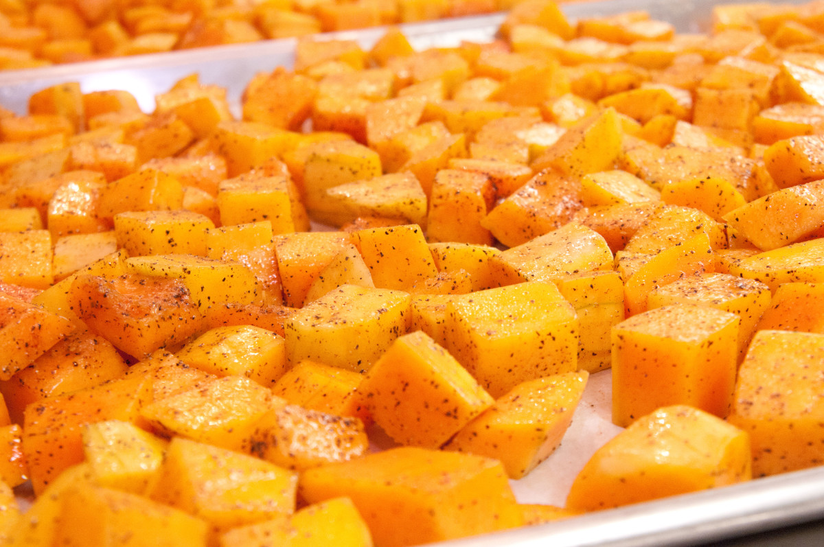 Squash is packed with vitamins & minerals! Pictured: Baked butternut squash.