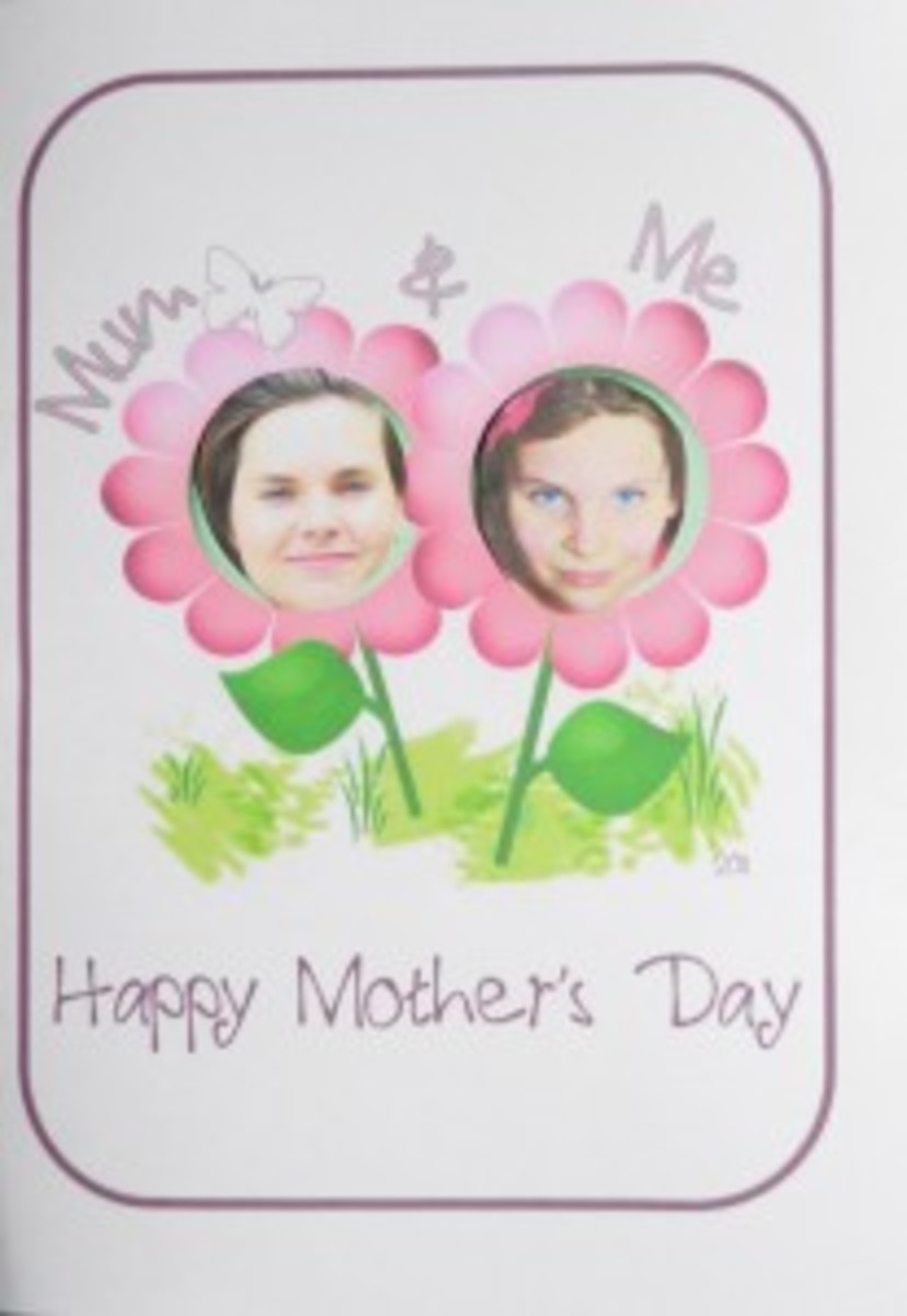 Mother Day Flower Card Printable Template