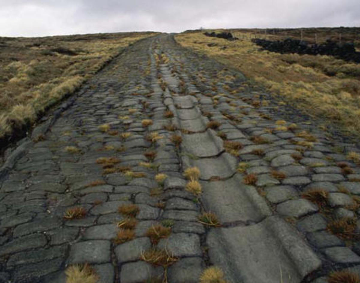 Ancient Roman roadway