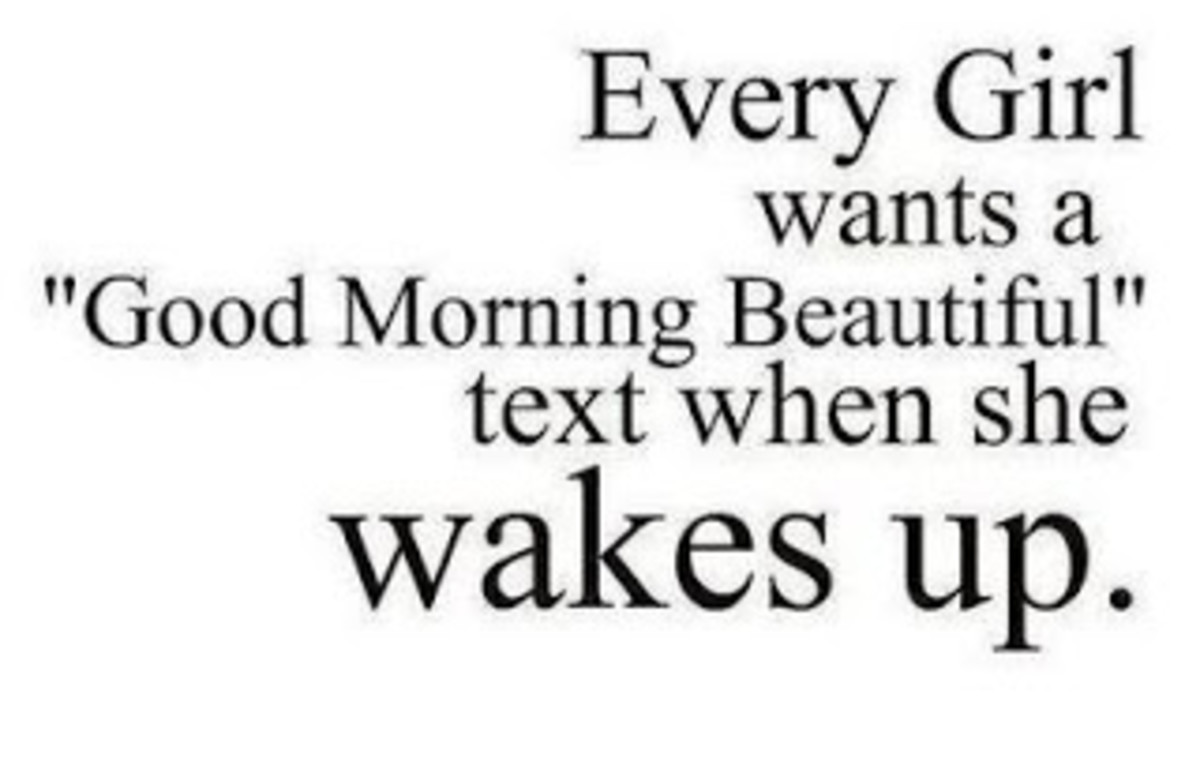Sweet things to text your girlfriend when she wakes up