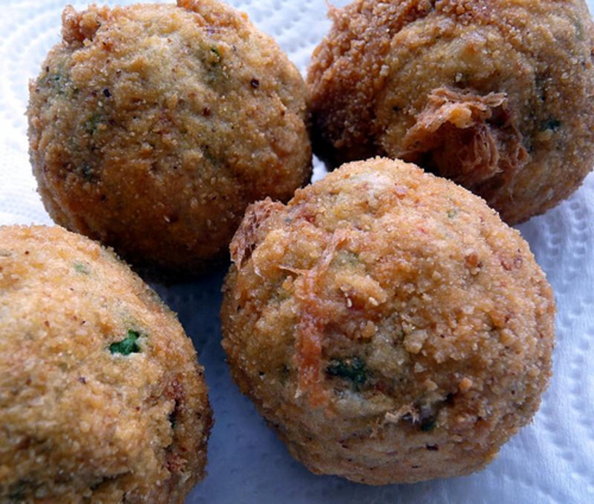 Instead of crab cakes, crab balls!