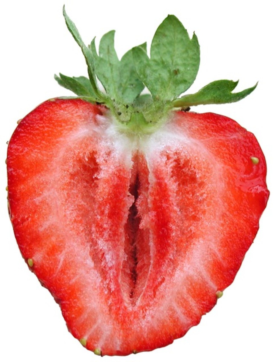 Sliced strawbreey