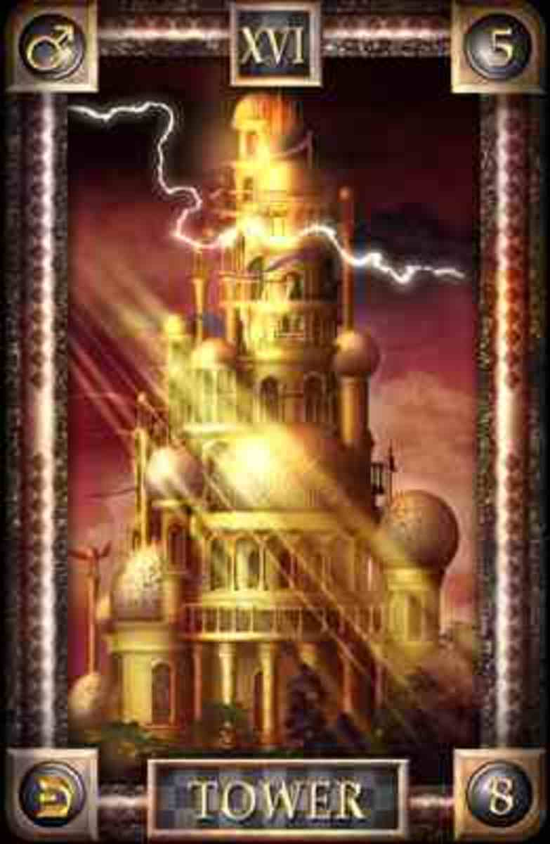 public domain THE FALLING TOWER