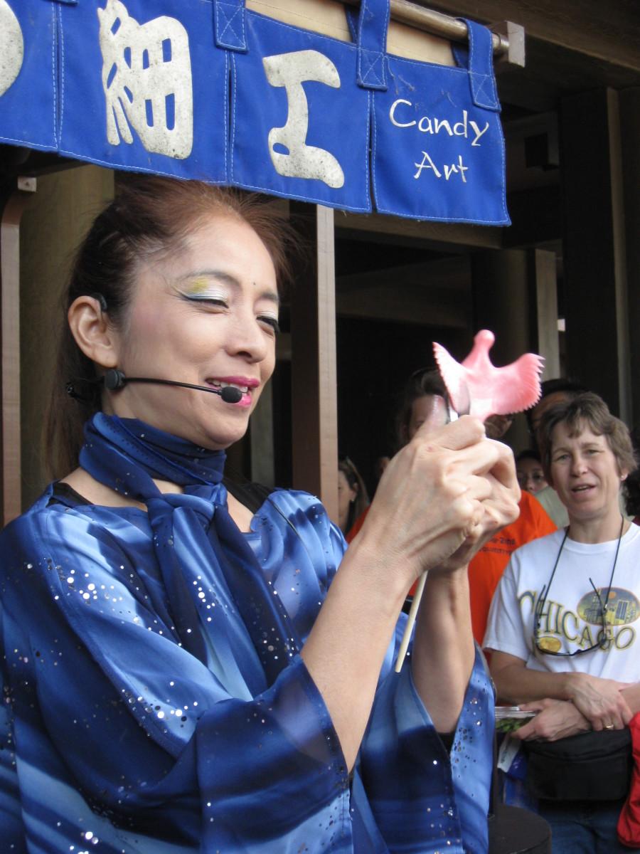 Miyuki in the Japan Pavilion