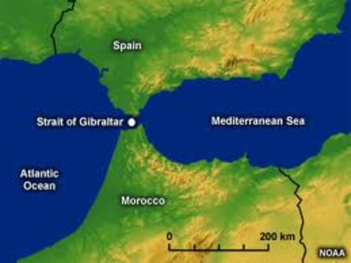 Strait of Gibraltar (Spain and Morocco)