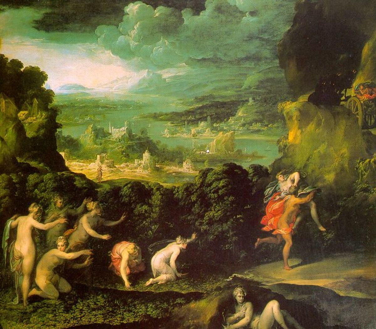 """The Rape of Persephone"" by Niccolò dell'Abbate"