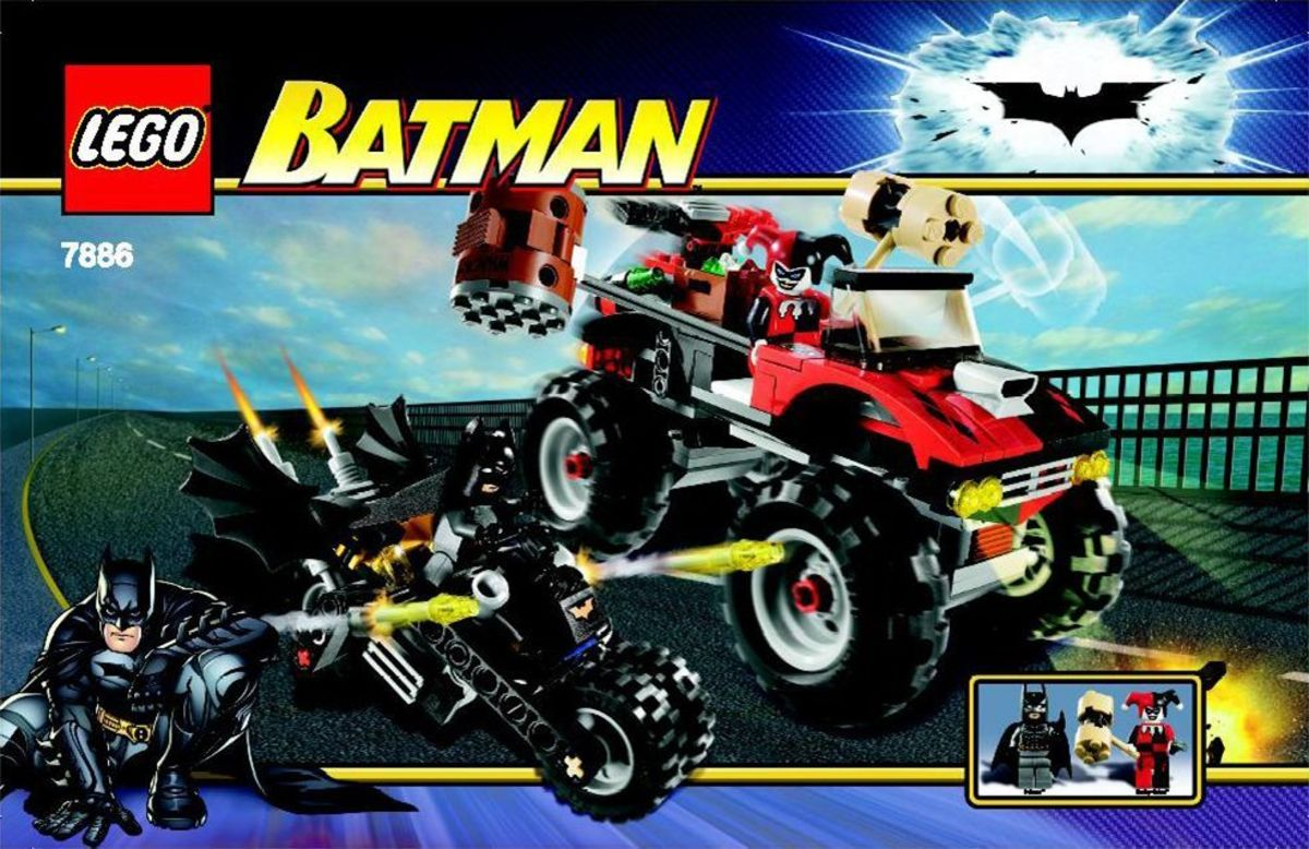 LEGO Batman The Batcycle: Harley Quinn's Hammer Truck 7886 Box