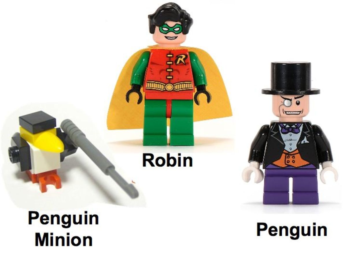 LEGO Batman Robin's Scuba Jet: Attack Of The Penguin 7885 Minifigures