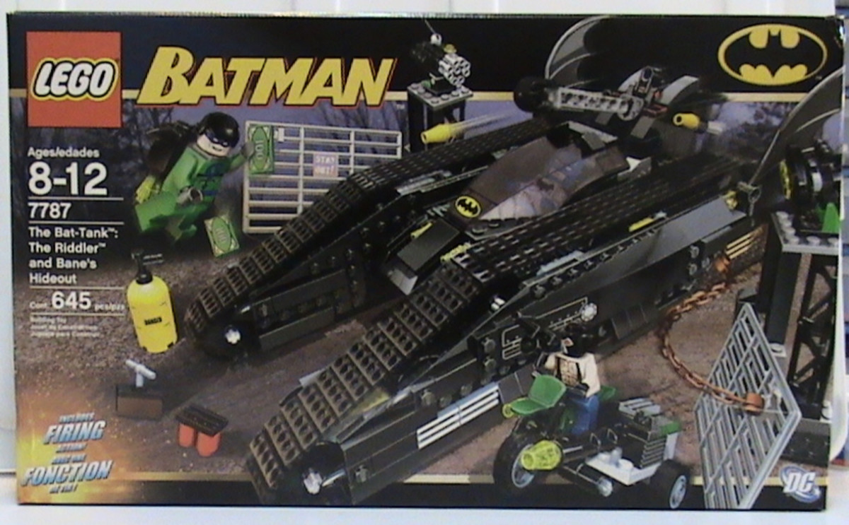LEGO Batman The Bat-Tank The Riddler And Bane's Hideout 7787 Box