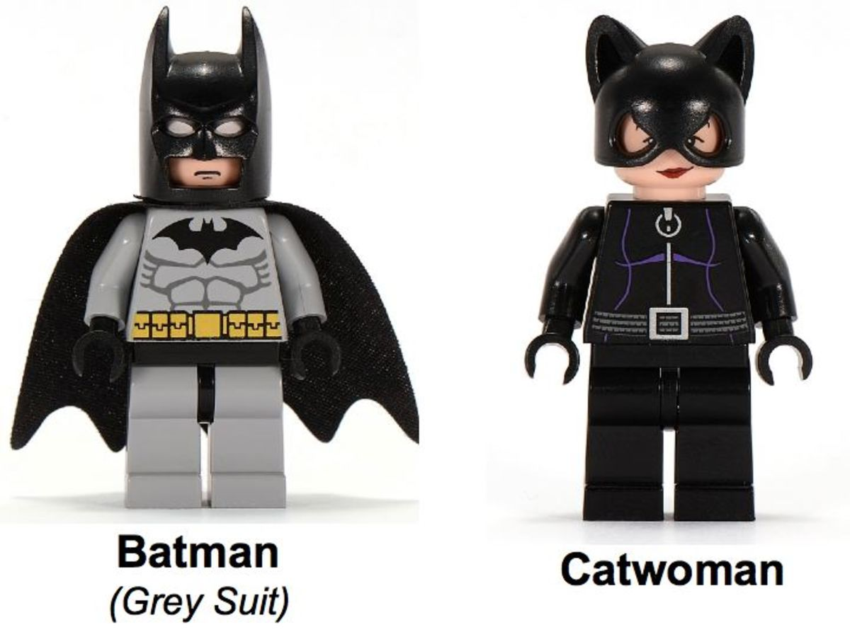 LEGO Batman Dragster Catwoman Pursuit 7779 Minifigures