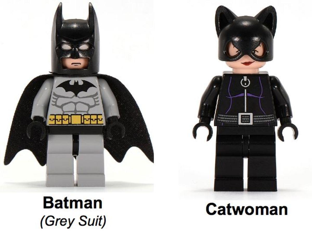 LEGO Batman Dragster Catwoman Pursuit 7779 Minifigures
