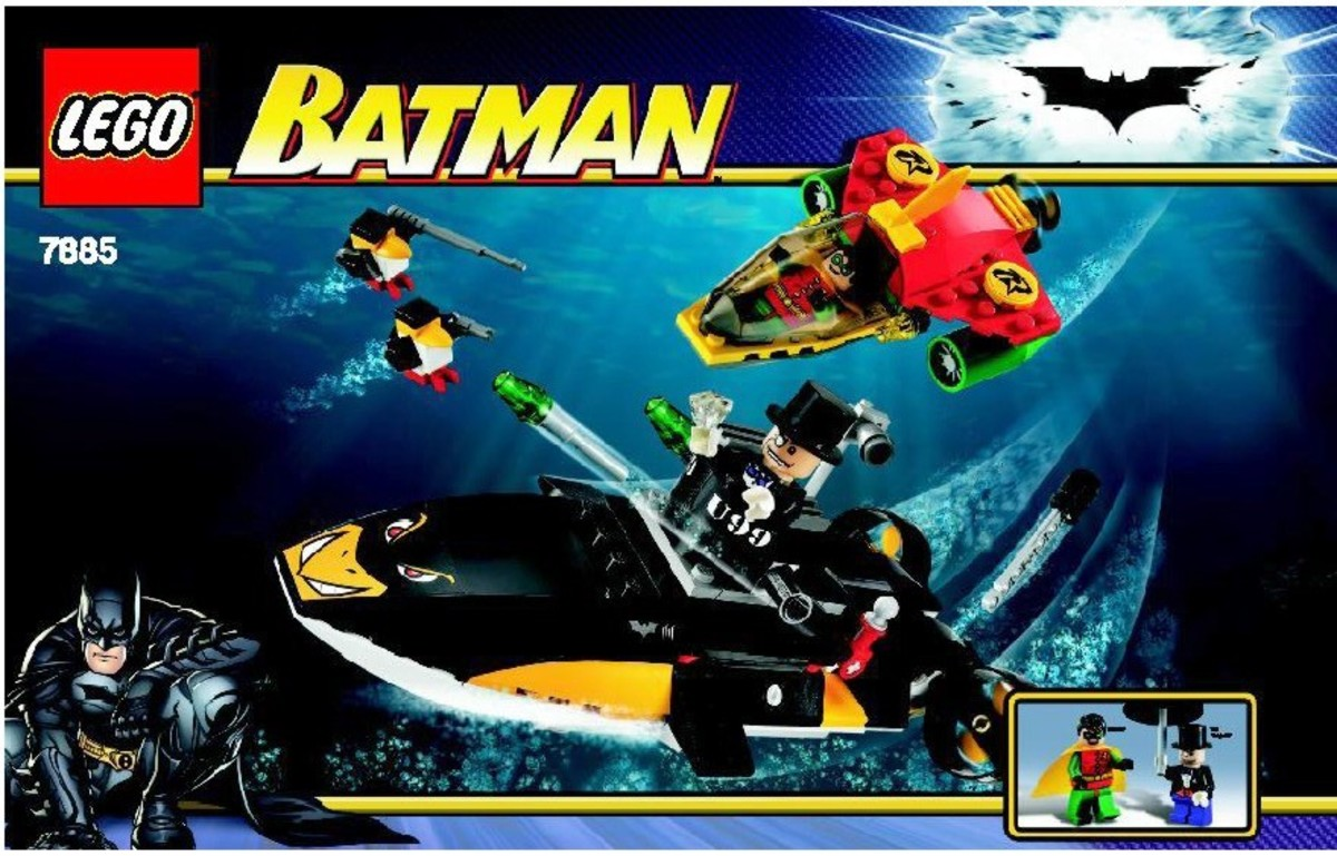 LEGO Batman Robin's Scuba Jet: Attack Of The Penguin 7885 Box