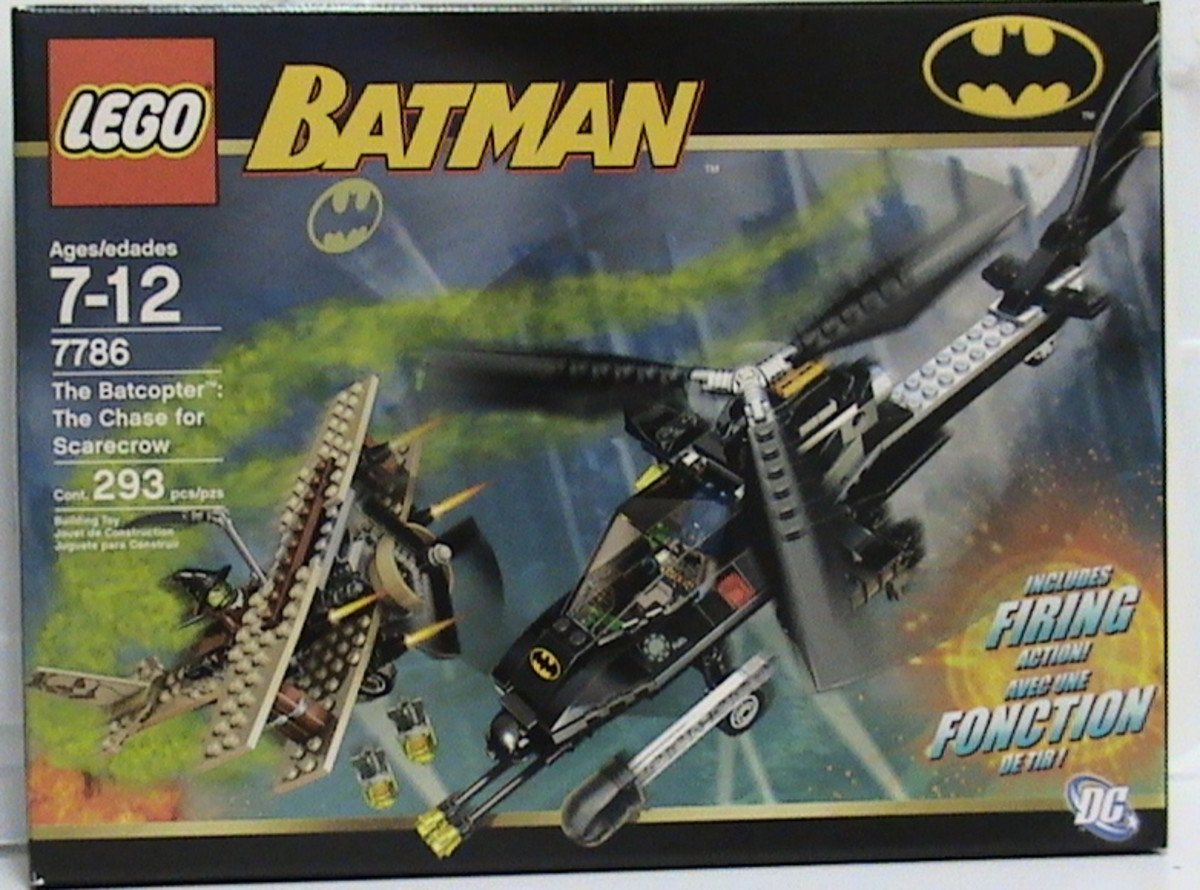 LEGO Batman The Batcopter The Chase For Scarecrow 7786 Box