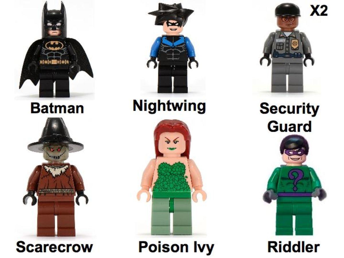 LEGO Batman Arkham Asylum 7785 Minifigures