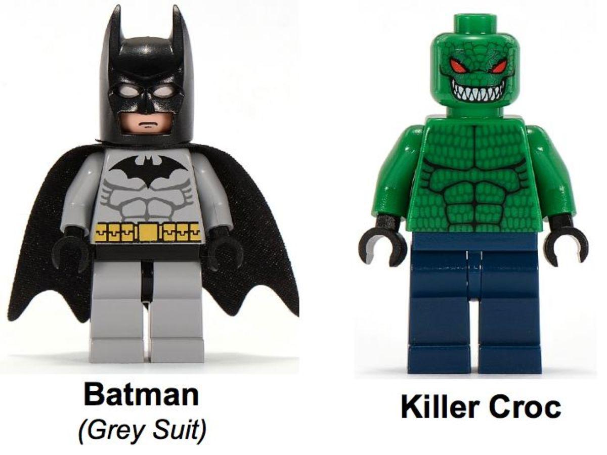 LEGO Batman The Batboat Hunt For Killer Croc 7780 Minifigures