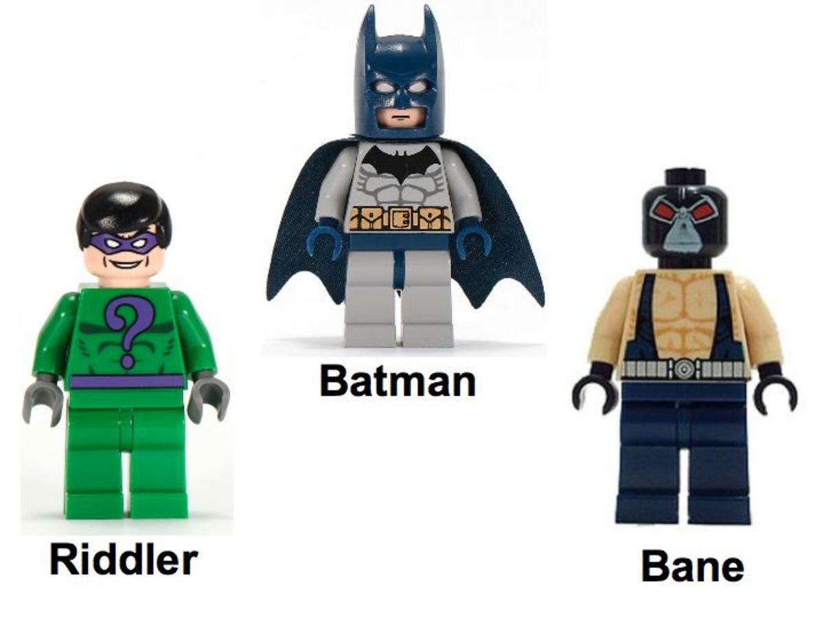 LEGO Batman The Bat-Tank The Riddler And Bane's Hideout 7787 Minifigures