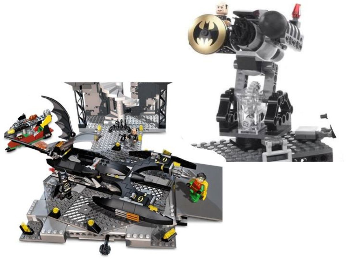 LEGO Batman The Batcave The Penguin And Mr. Freeze's Invasion 7783 Bat Turret and Landing Pad
