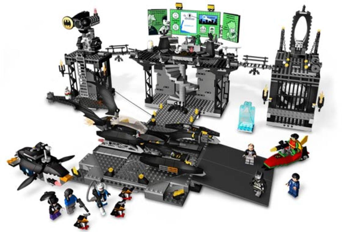 LEGO Batman The Batcave The Penguin And Mr. Freeze's Invasion 7783 Assembled