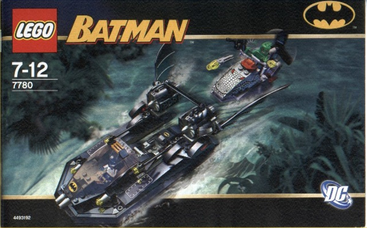 LEGO Batman The Batboat Hunt For Killer Croc 7780 Box