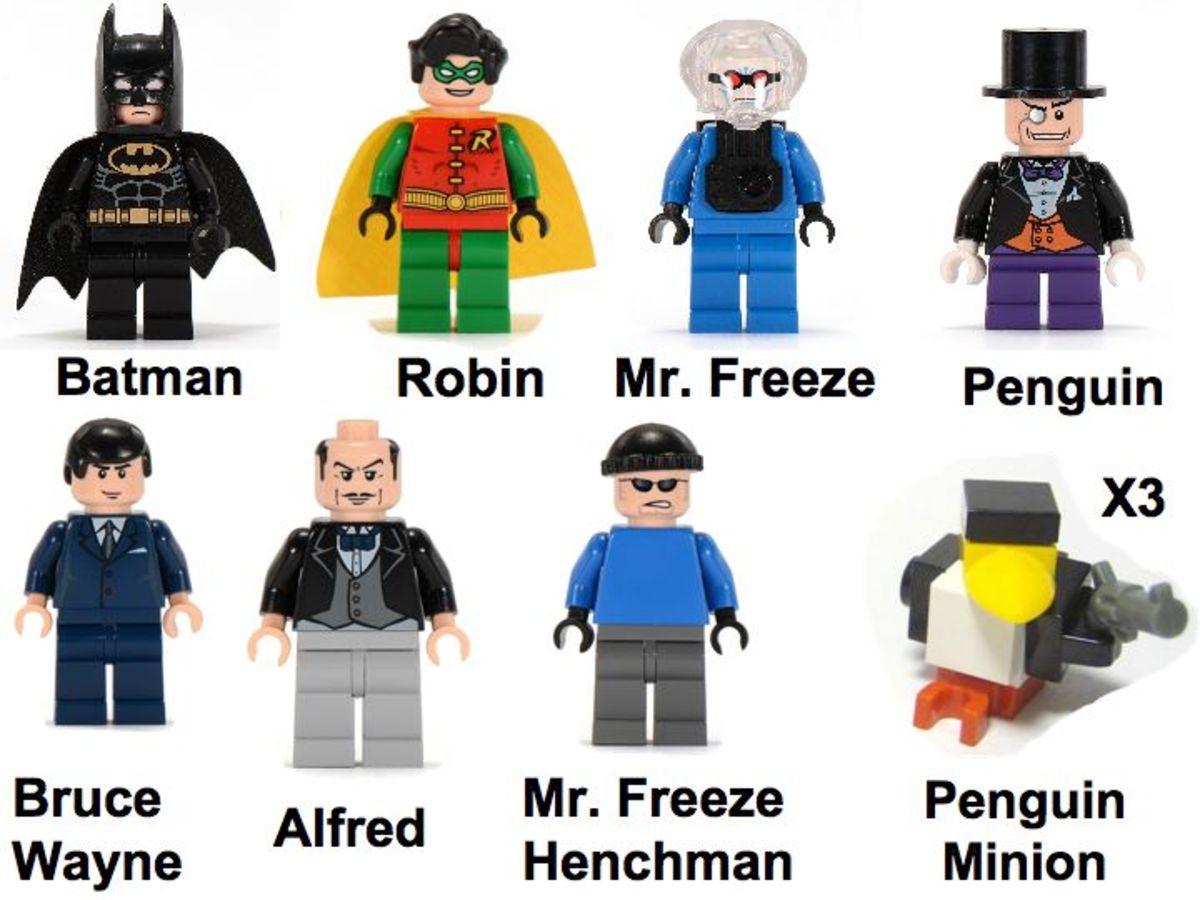 LEGO Batman The Batcave The Penguin And Mr. Freeze's Invasion 7783 Minifigures
