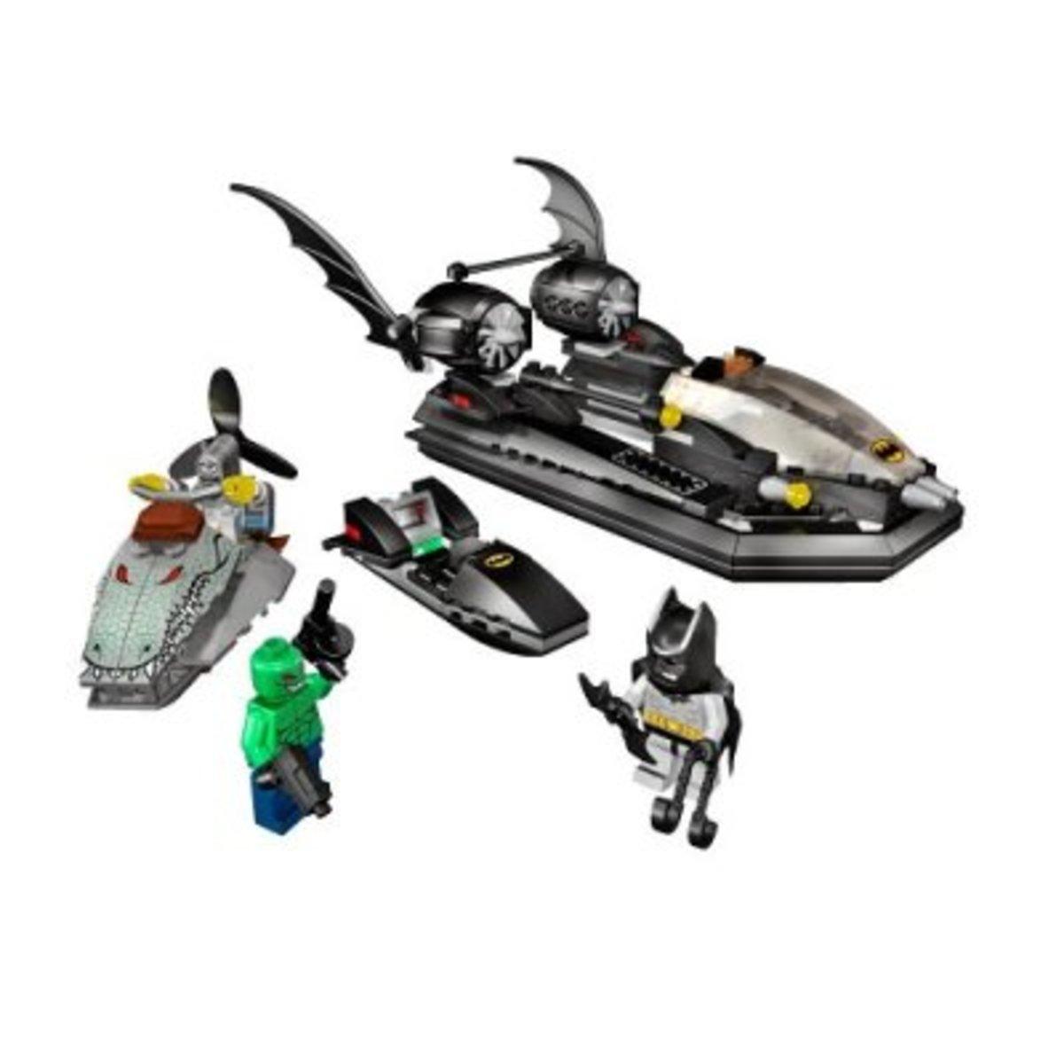 LEGO Batman The Batboat Hunt For Killer Croc 7780 Assembled