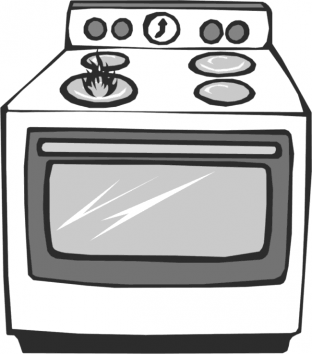 Gas oven photo,credited to wpclipart.com