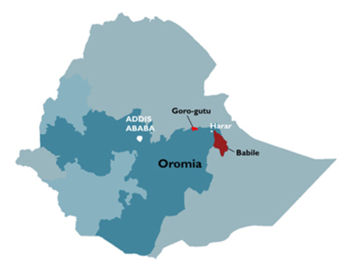 The Oromo people are located in the Oromia country
