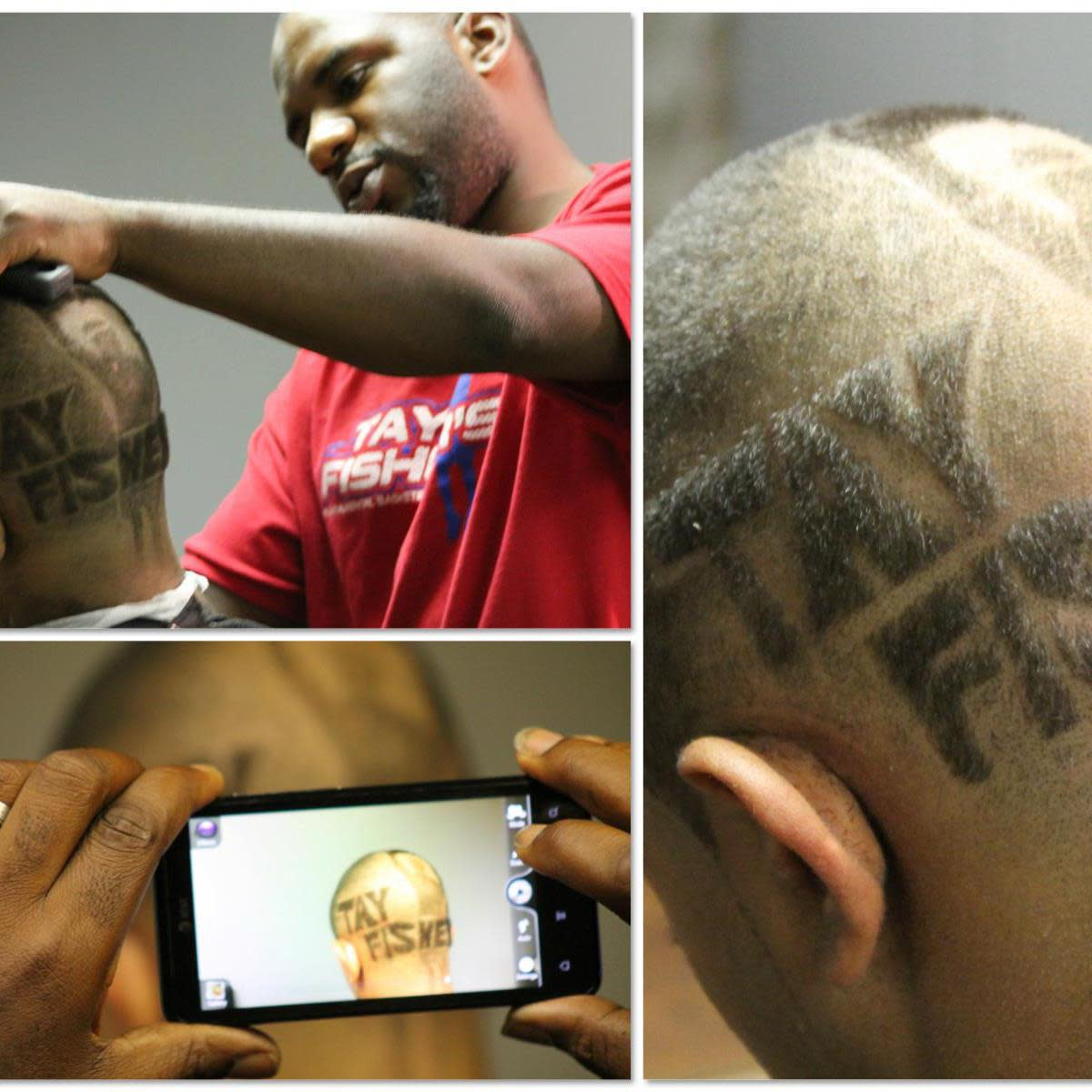 Hair Design for Tay Fisher's Basketball Camp