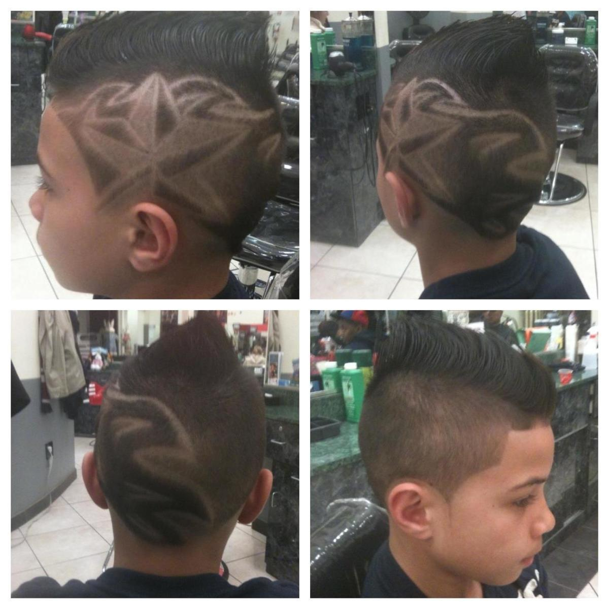 Fohawk with Star Design