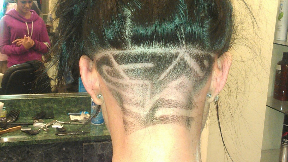Many women like to get hair designs too on the back of the neck and sides of the head.