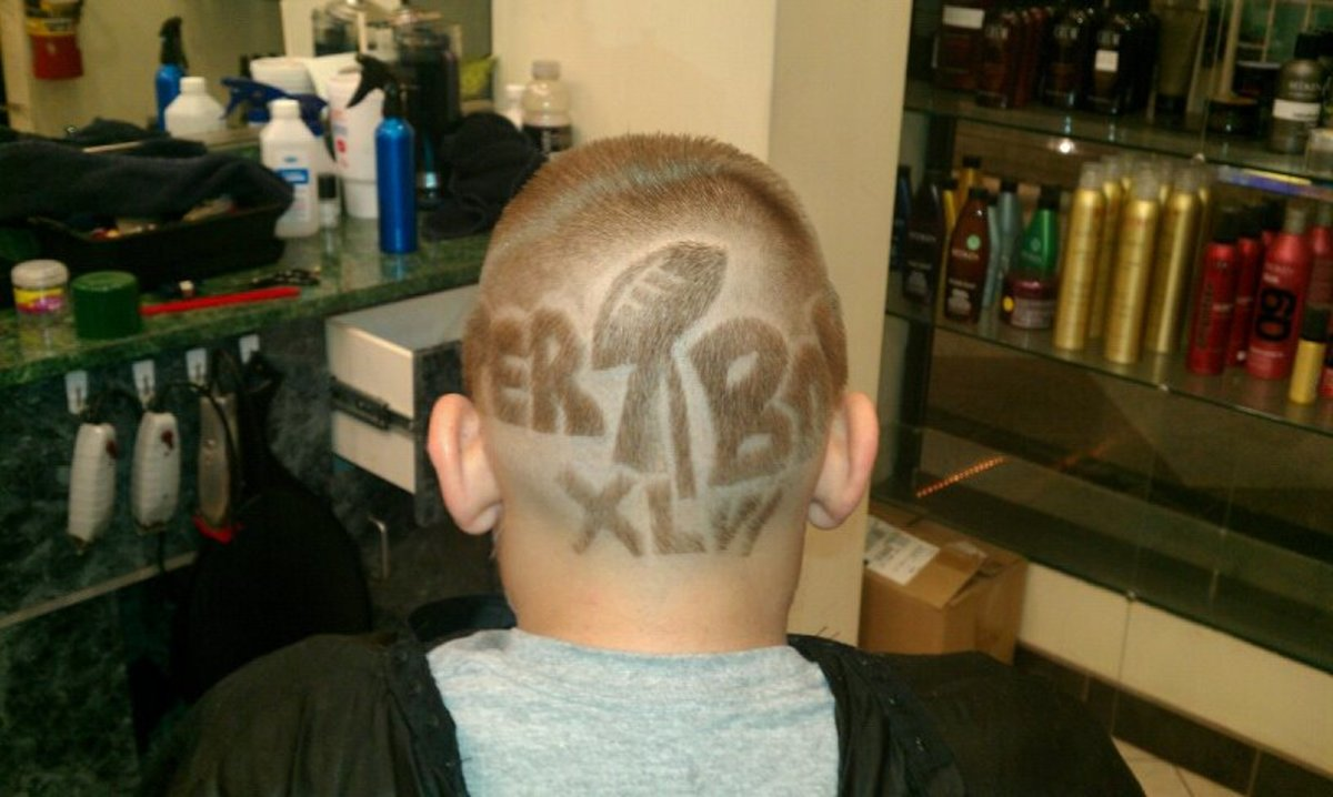 Super Bowl Hair Cut
