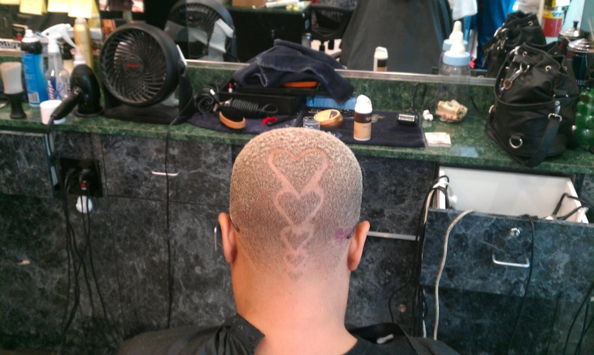 Heart Hair Design