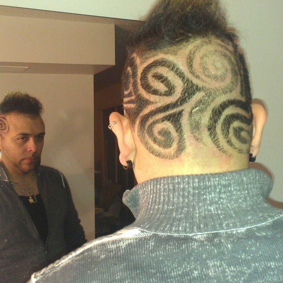 Swirly Hair Design