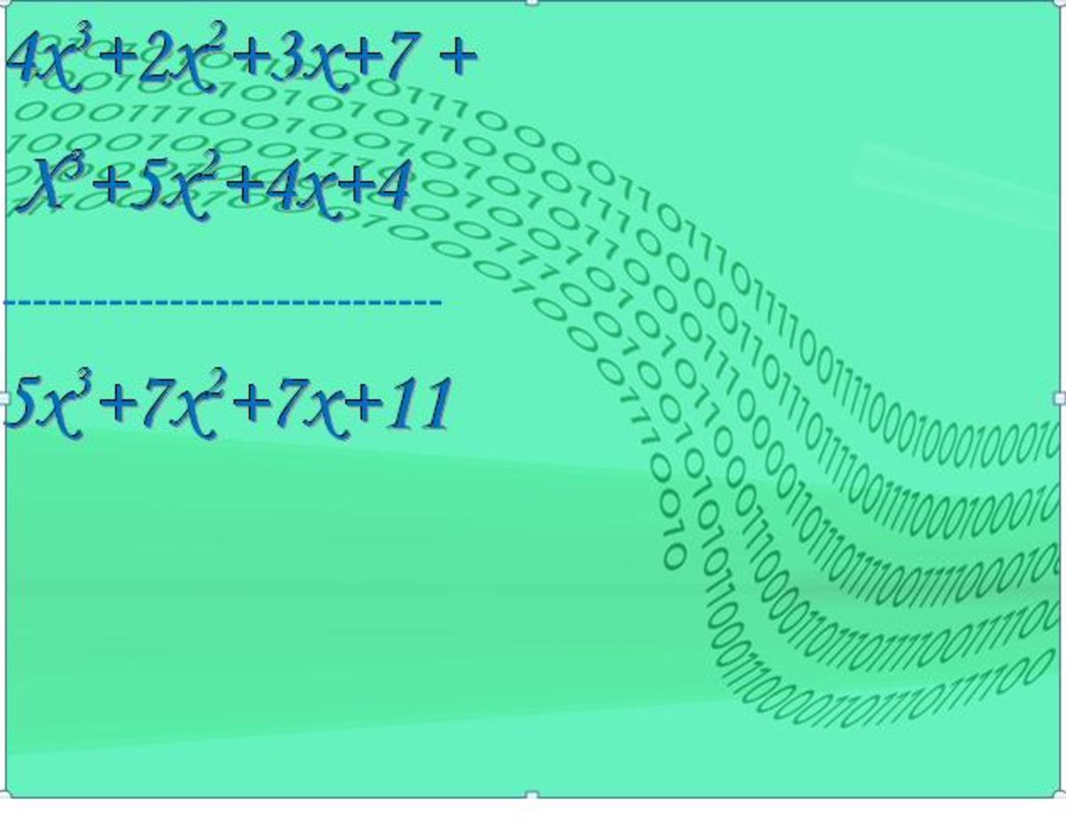 Polynomial addition