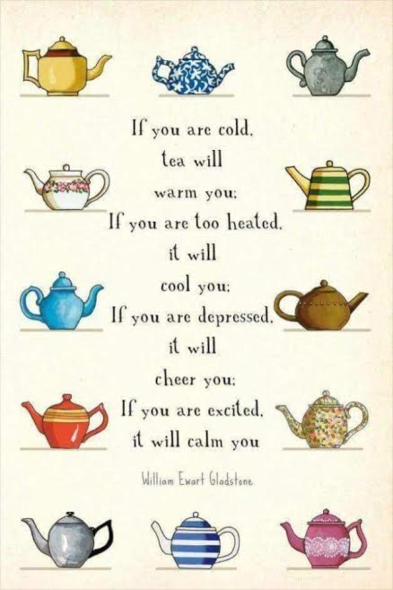 Tea sets the mood