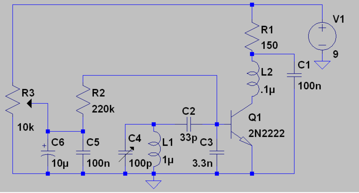 A simple Q multiplier circuit with expansive gain.  One unusual aspect of expansive gain is that the selectivity of the circuit increases with signal strength.