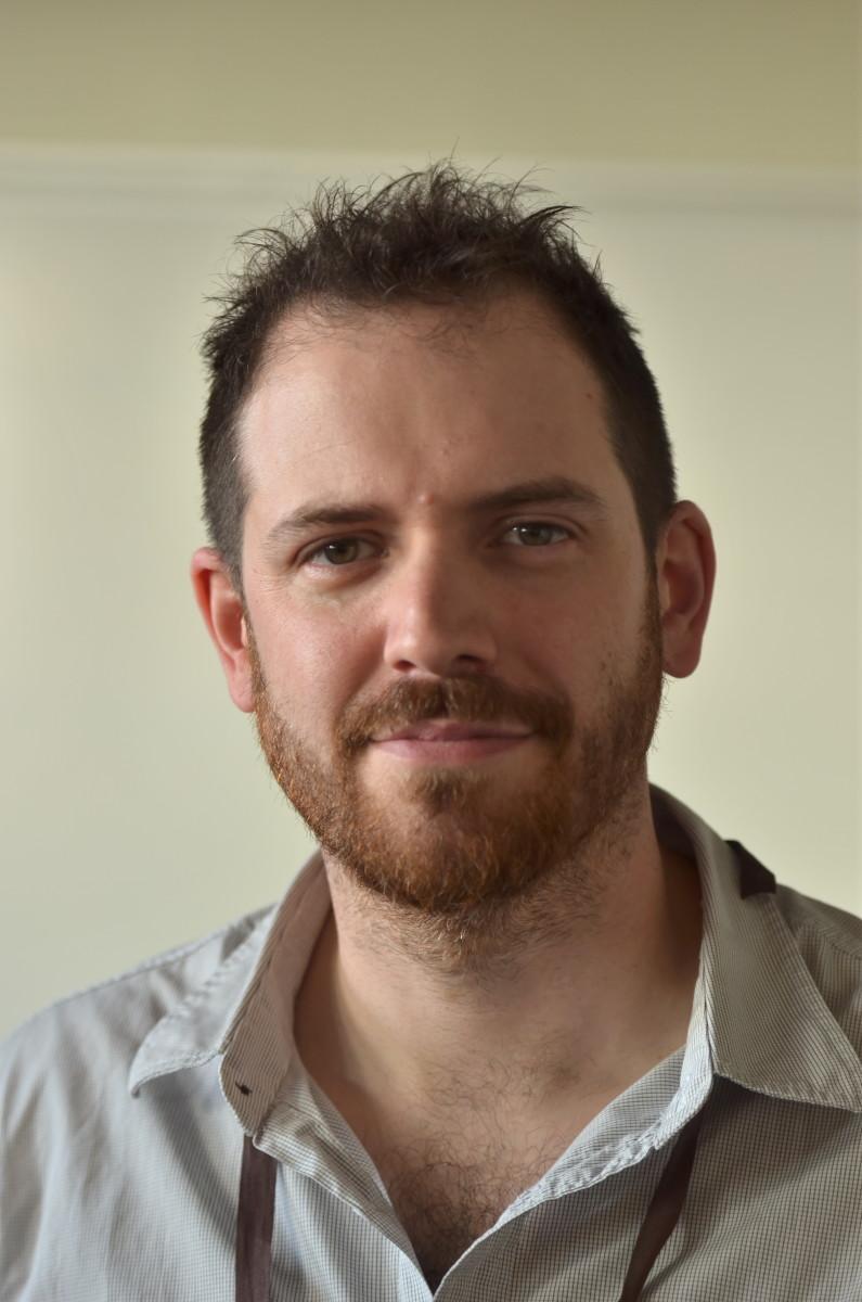 Brittish fantasy writer Joe Abercrombie at Swecon October 2012.