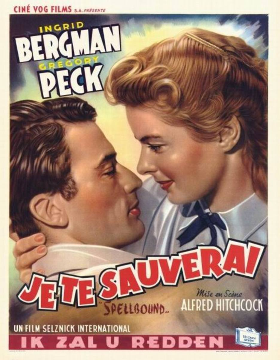 Spellbound (1945) Belgian poster