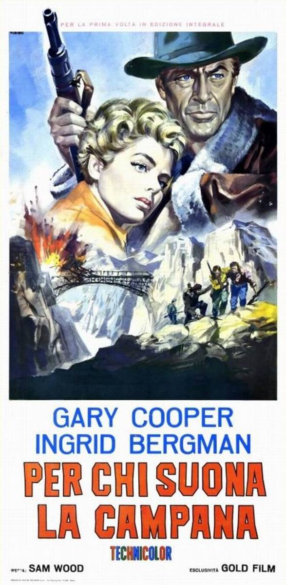For Whom the Bell Tolls (1943) Italian poster
