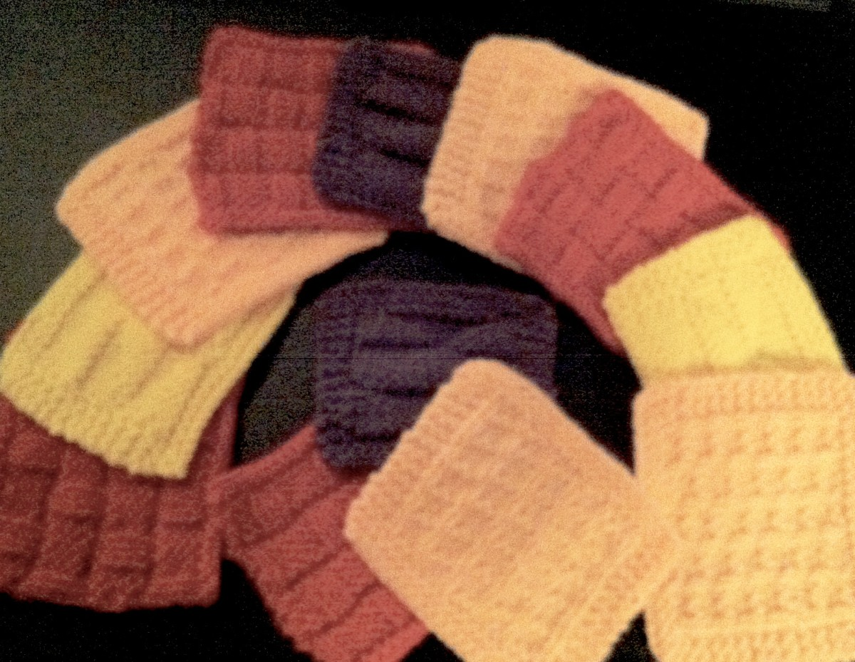 Intermediate Knitting Combining Knit And Purl Stitches : Free Coaster Patterns: 3 Beginner Red Hot Knit and Purl Patterns HubPages