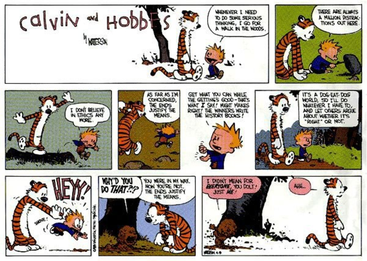 Calvin always succeeds in  bringing out the truth in an awesome and funny manner! :)