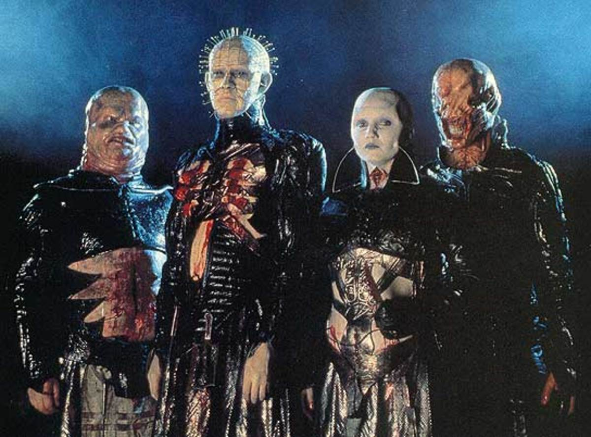 Pinhead and his cohorts in Hellraiser