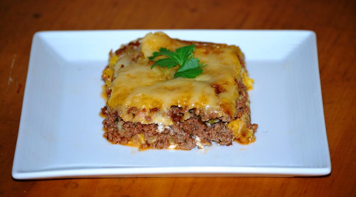 Island Bites: Piñon or Pastelón (Puerto Rican Sweet Plantain Lasagna)