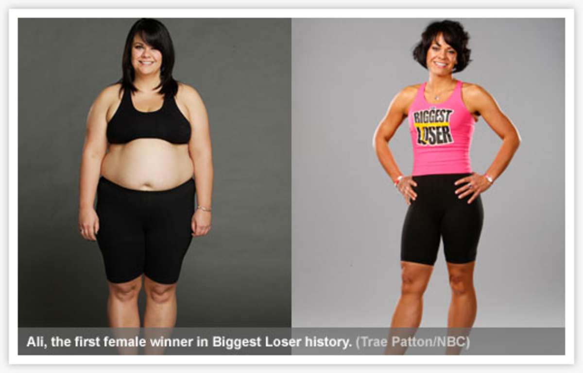 Ali the first female winner of Biggest Loser